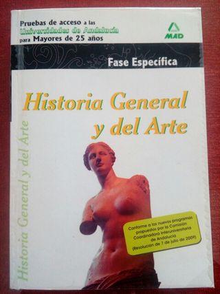 Libro Historia General y del Arte prueba acceso