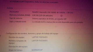 portátil hp Windows 10