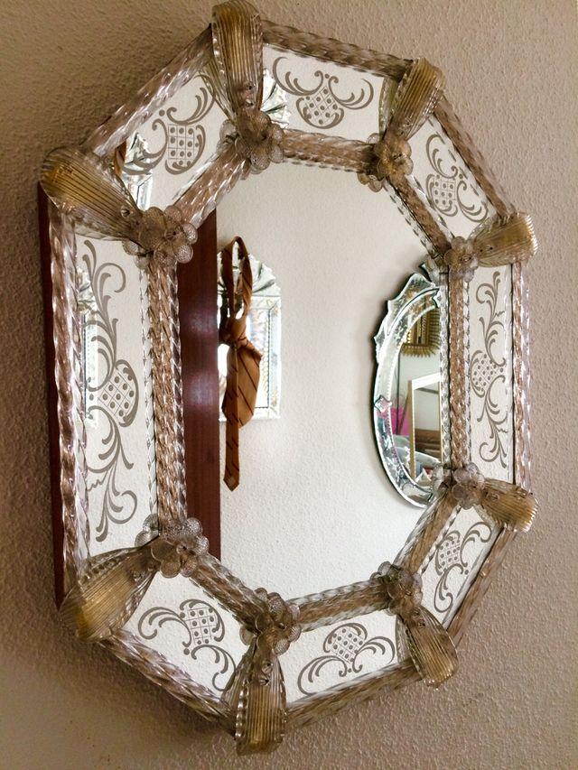 Antiguo espejo veneciano oro de segunda mano por 550 en - Espejo veneciano antiguo ...