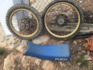 En venta ruedas y sillón de puch, buen estado.