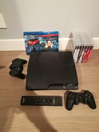 PS3 + Juegos + peliculas