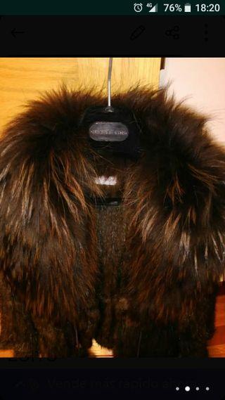 chaqueton de vison tricotado yespectacular cuello