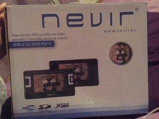 Reproductor DVD portátil con doble pantalla