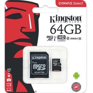 Tarjeta Micro SD original Kingston 64GB