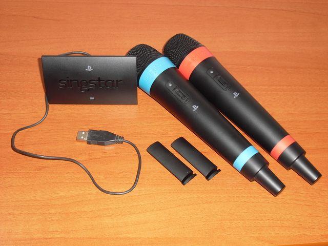 Micrófonos inalámbricos SingStar + receptor, PS3