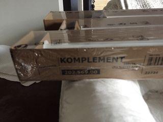 20 100 X Ikea Segunda Mano 35 Komplement Barra Fondo Por De Armario HID2WbYeE9