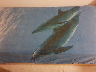 funda nórdica delfines