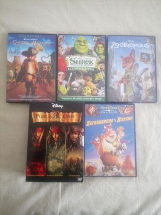DVDs varios