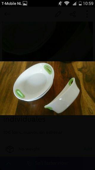 recipientes de horno individuales