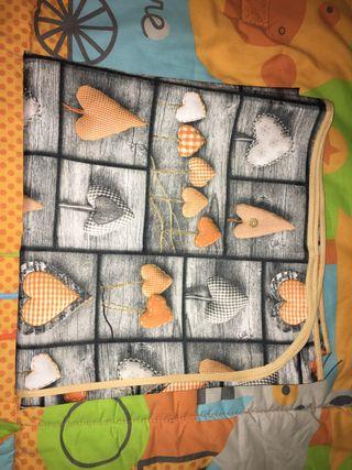 3x2 Mantel Impermeable Nuevo Gris/Naranja