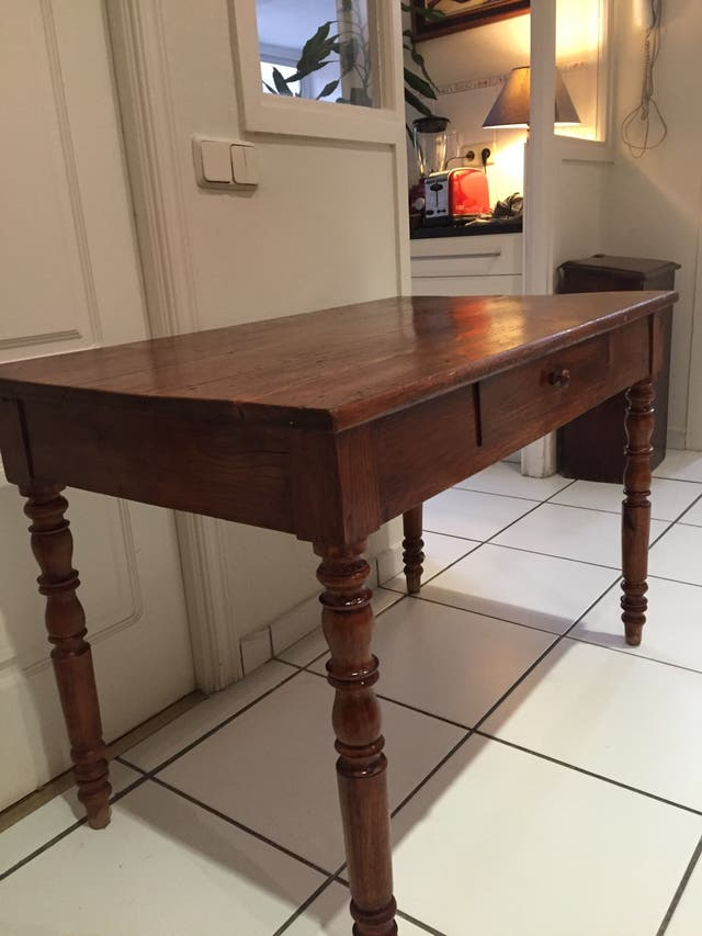 Mesa de madera maciza para cocina o escritorio de segunda mano por ...