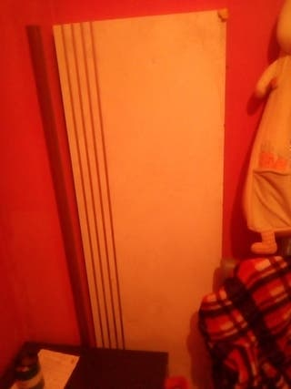 cabecero cama blanco rayas plateadas