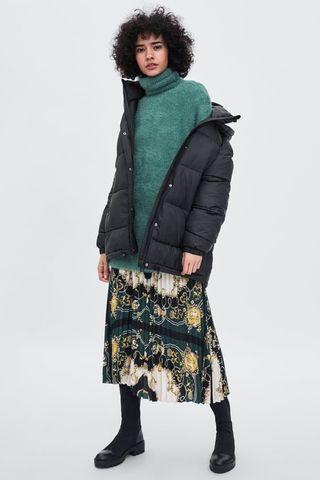 93fca8a9ee Cadenas Plisada Midi Falda Zara Estampado 5IqTxFw
