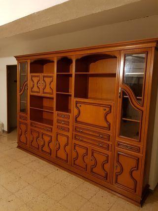Mueble antiguo de los 80 macizo de salón u oficina