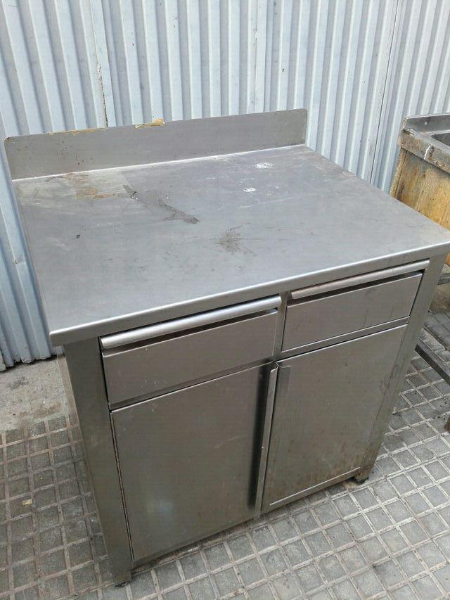 Mueble cocina acero inoxidable de segunda mano por 175 € en Terrassa ...