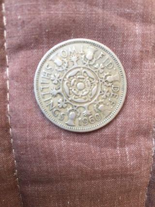Moneda antigua inglesa 1960