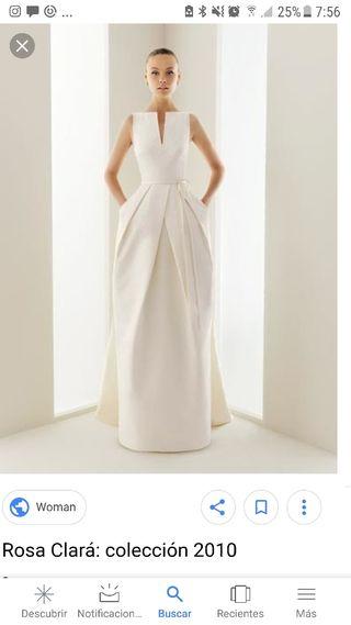 vestido de novia rosa clara de segunda mano en madrid en wallapop