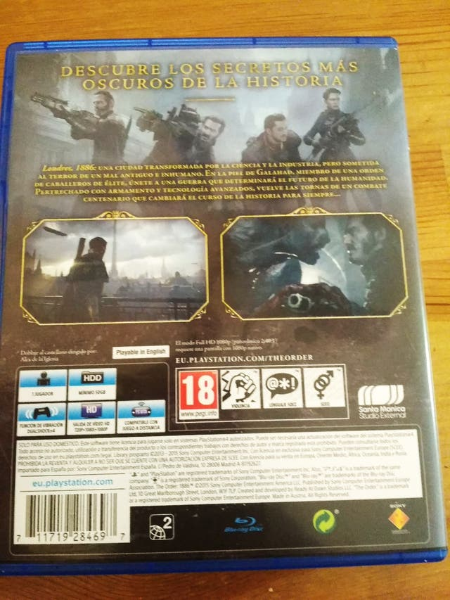 Cambio The Order 1886 para PS4