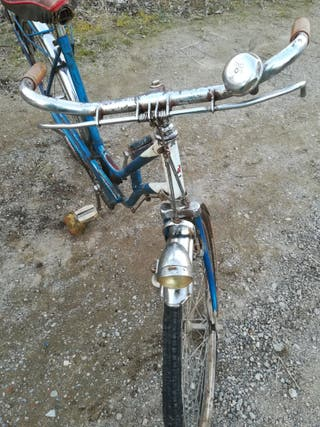 bicicleta antigua bh con frenos de varillas