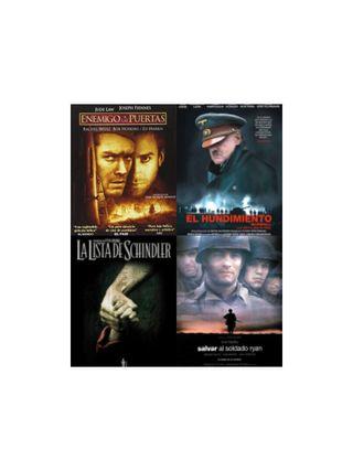 Pack películas DVD éxitos Segunda Guerra Mundial