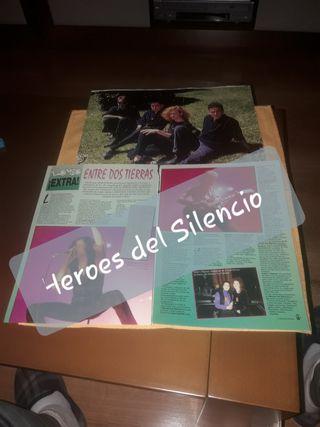 Recorte de revista de Heroes del Silencio