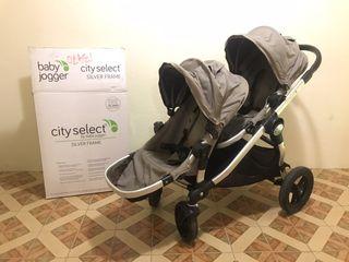 Baby Jogger City Select + Maxicosi Carrito Gemelar