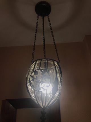Lámpara de diseño vintage. Hecha a mano