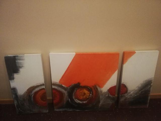 Conjunto de tres cuadros para comedor. de segunda mano por 10 € en ...