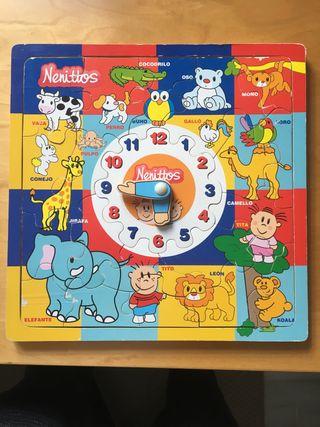Juguete puzzle reloj