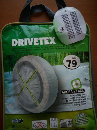 Cadena textil de nieve para coche