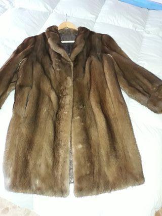 abrigo piel chinchilla.