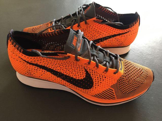 buy popular 2de78 74005 Nike Flyknit Racer Total Orange size 44 second hand for 90 € in ...