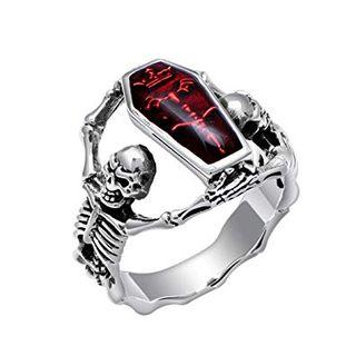 Moda retro de Halloween vampiro anillo diario acer