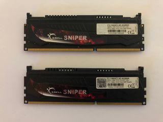 8 GB KIT 2x4 GSKILL SNIPER DDR3-1866 MEMORIA RAM