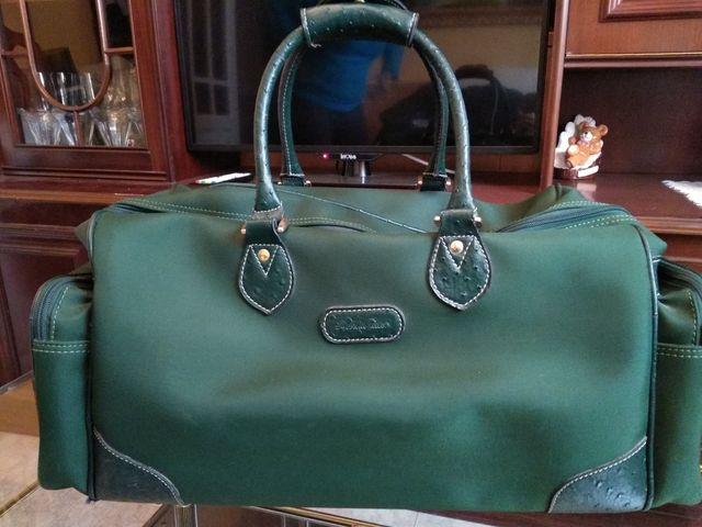 bolsa de viaje verde emidio tucci