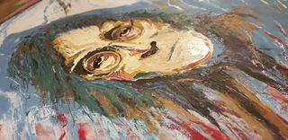 Espectacular retrato hecho a mano de JOHN LENNON