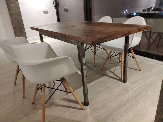 Mesa de comedor vintage de madera de segunda mano por 350 € en ...