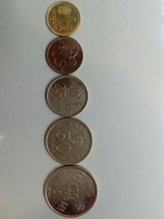 colección pesetas mundial 1980*80