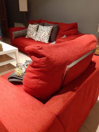 Sofà de 3 plazas y sillón individual