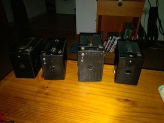 Lote de 4 cámaras antiguas