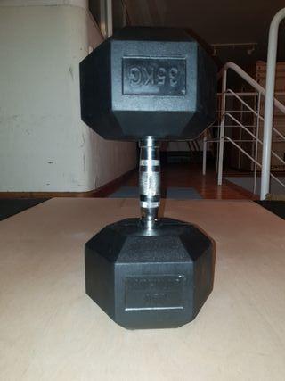 Mancuerna hexagonal nueva 35kg singularwod