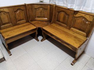 Banco de madera antiguo de segunda mano en wallapop - Garajes de madera de segunda mano ...