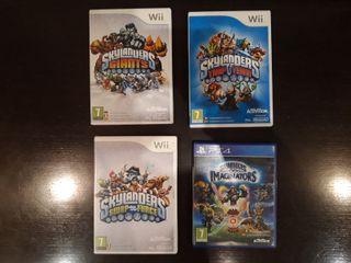 Skylanders pack Wii-PS4 juegos+41 figuras+mochila