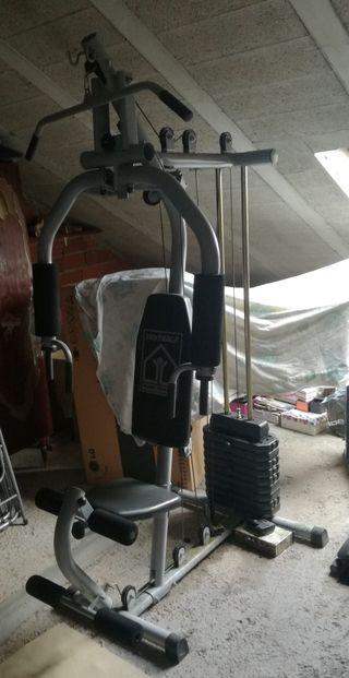 Maquinas y pesas gimnasio