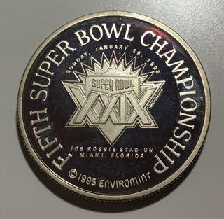 Moneda de plata SUPER BOWL XXIX