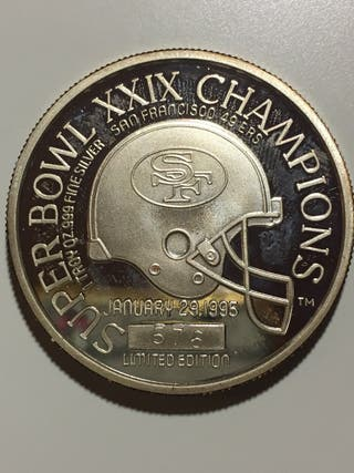 Moneda de plata SUPER BOWL XXIX