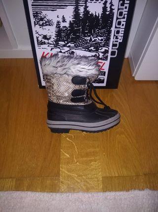 botas nieve niño/a con dos puestas