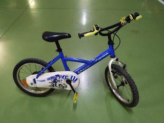 Bicicleta para niño de 16 pulgadas