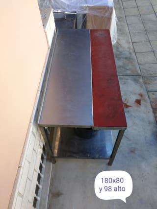 mesa profesional acero con encimera