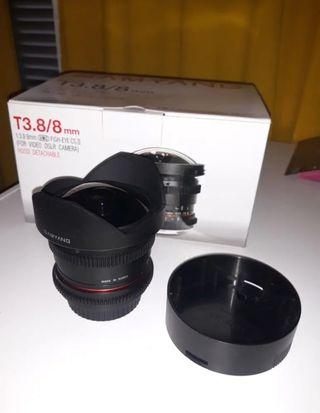 Objetivo Samyang 8mm vdslr